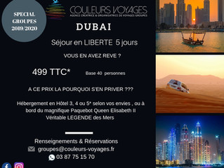 DUBAI à partir de 499€ TTC Séjour Liberté 5 jours