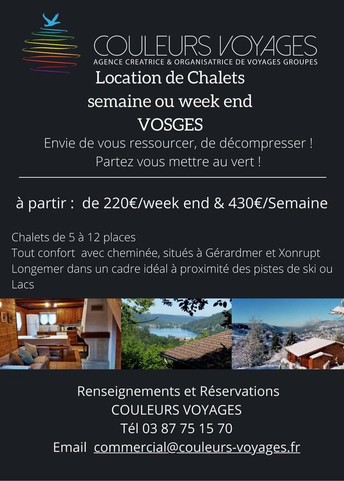 location de cHALETS VOSGES