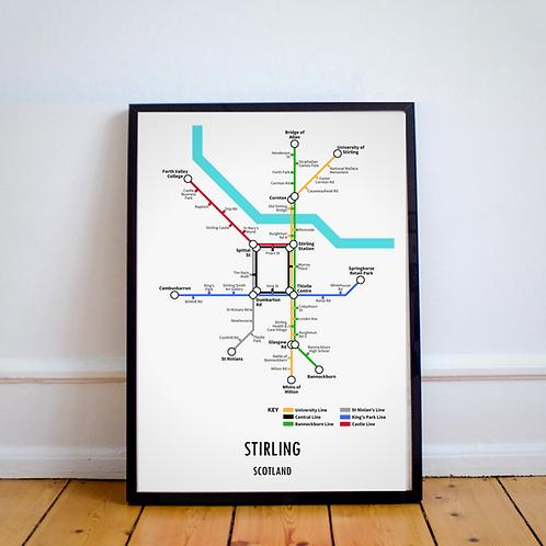 Stirling, Scotland | Underground Style Map
