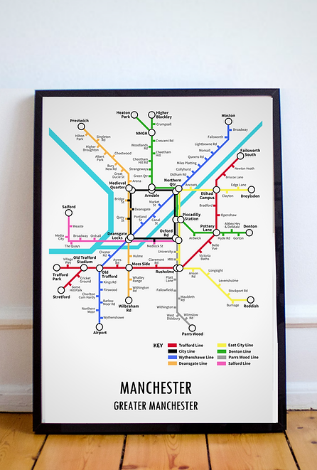 Manchester, Greater Manchester | Underground Style Map