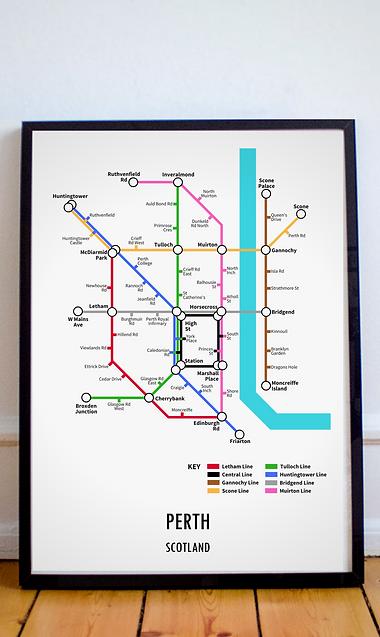 Perth, Scotland | Underground Style Map
