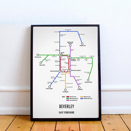 Beverley, East Yorkshire | Underground Style Map