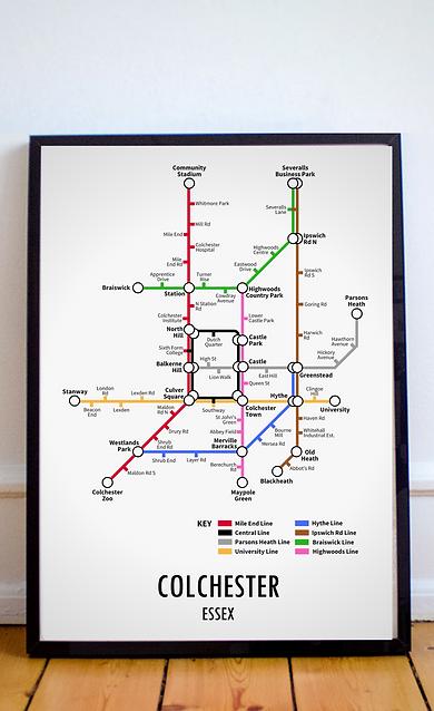 Colchester, Essex | Underground Style Map