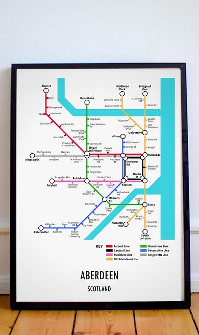 Aberdeen, Aberdeenshire | Underground Style Map