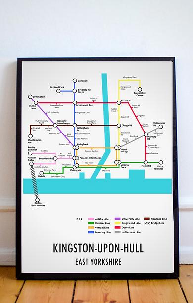 Kingston Upon Hull, East Yorkshire | Underground Style Map