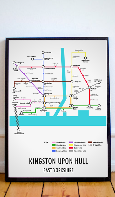 Kingston Upon Hull, East Yorkshire | Underground Style Map