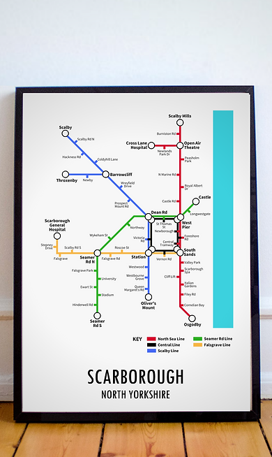 Scarborough, North Yorkshire   Underground Style Map