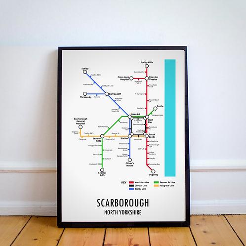 Scarborough, North Yorkshire | Underground Style Map