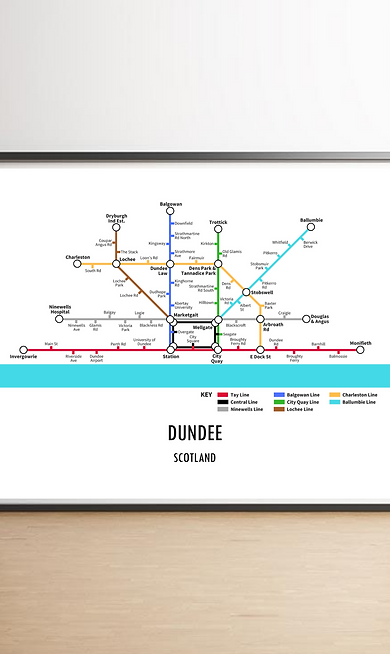 Dundee, Scotland | Underground Style Map