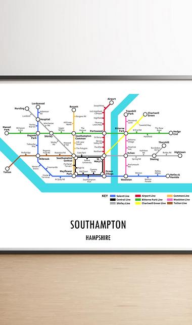 Southampton, Hampshire | Underground Style Map
