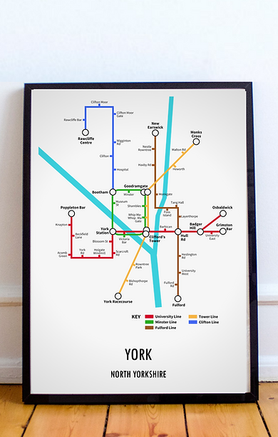 York, North Yorkshire | Underground Style Map