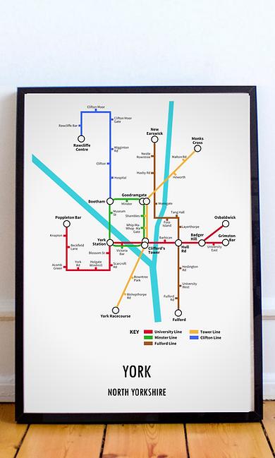 York, North Yorkshire   Underground Style Map