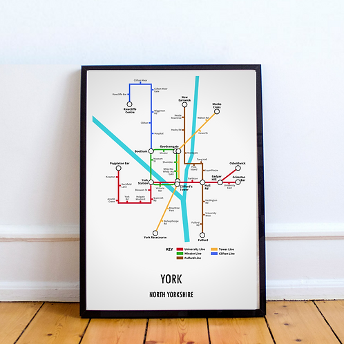 York, North Yorkshire | Underground Style Map