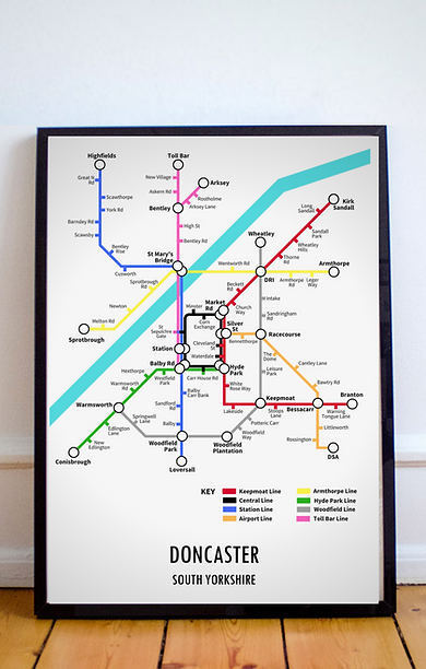 Doncaster, South Yorkshire | Underground Style Map