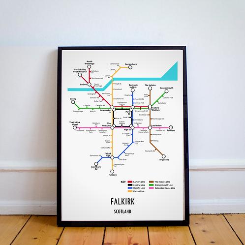 Falkirk, Scotland | Underground Style Map