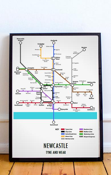 Newcastle, Tyne and Wear | Underground Style Map