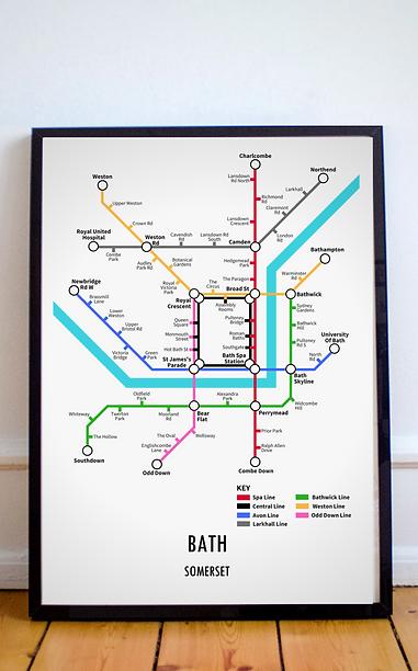 Bath, Somerset   Underground Style Map