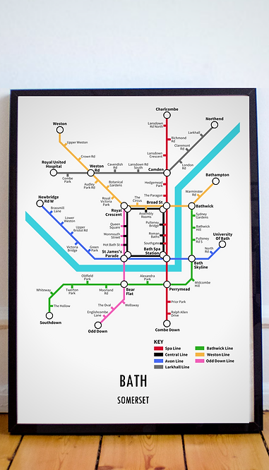 Bath, Somerset | Underground Style Map