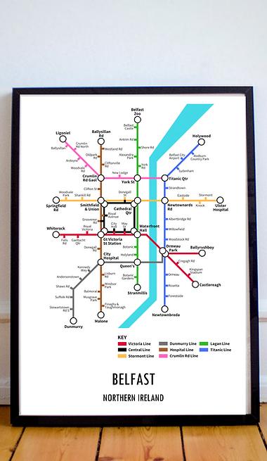 Belfast, Northern Ireland | Underground Style Map