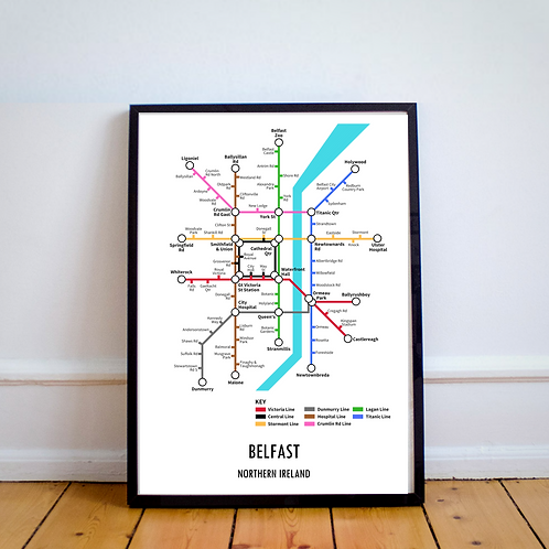 Belfast, Northern Ireland | Underground Style Map