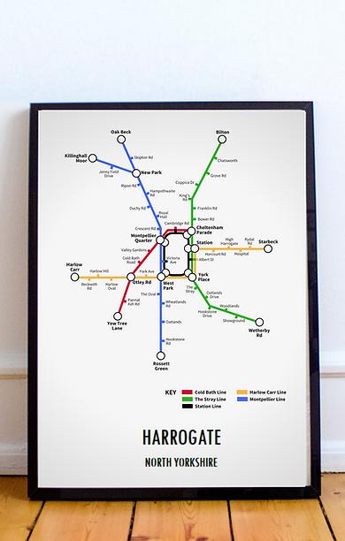 Harrogate, North Yorkshire | Underground Style Map