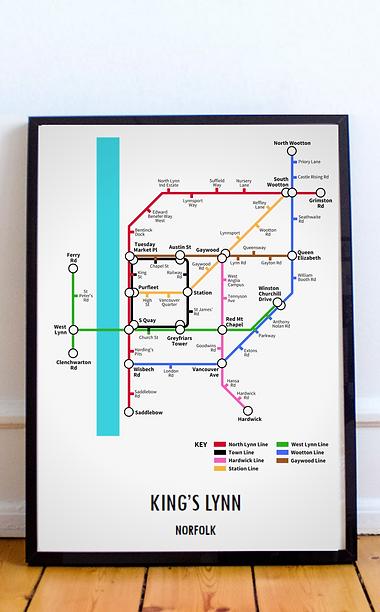 King's Lynn, Norfolk | Underground Style Map
