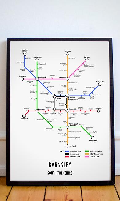 Barnsley, South Yorkshire | Underground Style Map