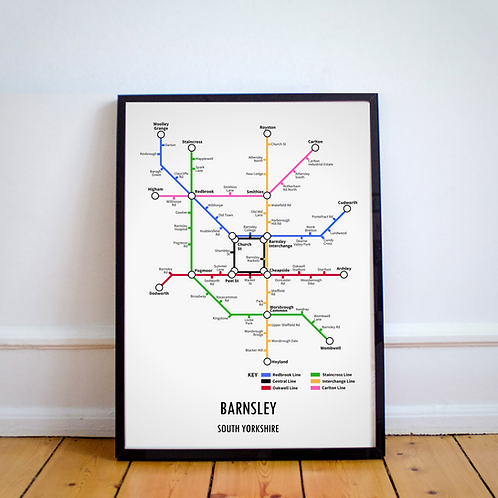 Barnsley, South Yorkshire | Underground Style Map
