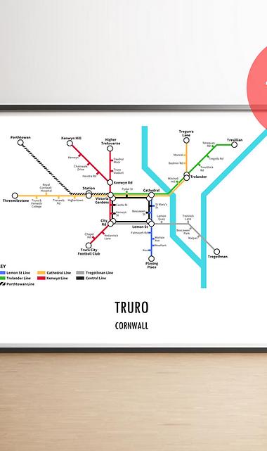Truro, Cornwall   Underground Style Map