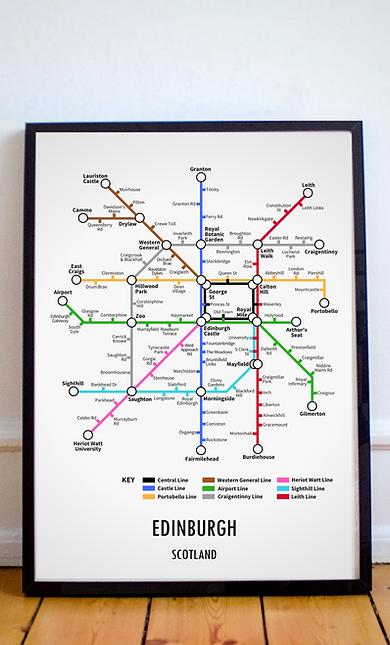 Edinburgh, Scotland | Underground Style Map