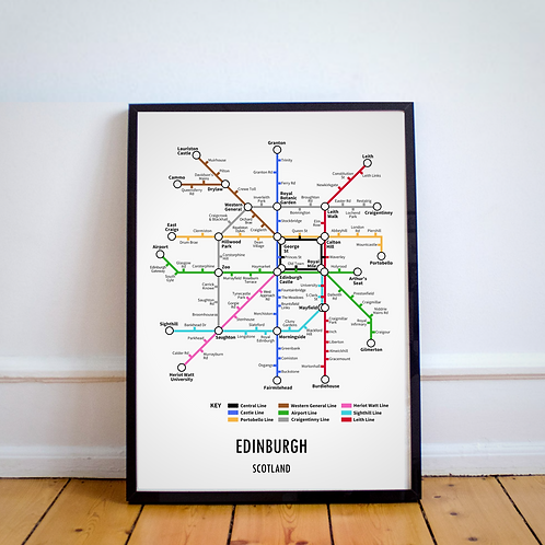 Edinburgh, Scotland | Underground Style Map