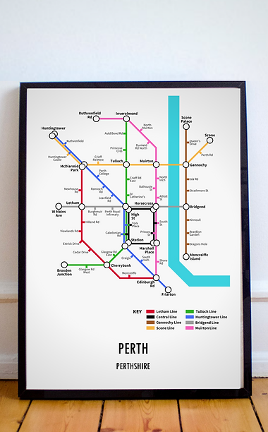 Perth, Perthshire | Underground Style Map