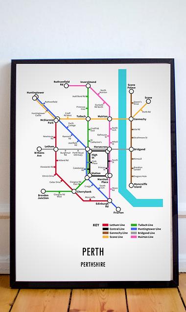 Perth, Perthshire | Underground Style Map