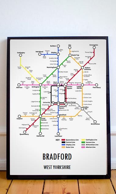 Bradford, West Yorkshire | Underground Style Map