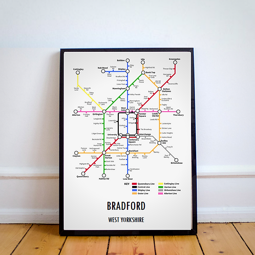 Bradford, West Yorkshire | Underground Style Map