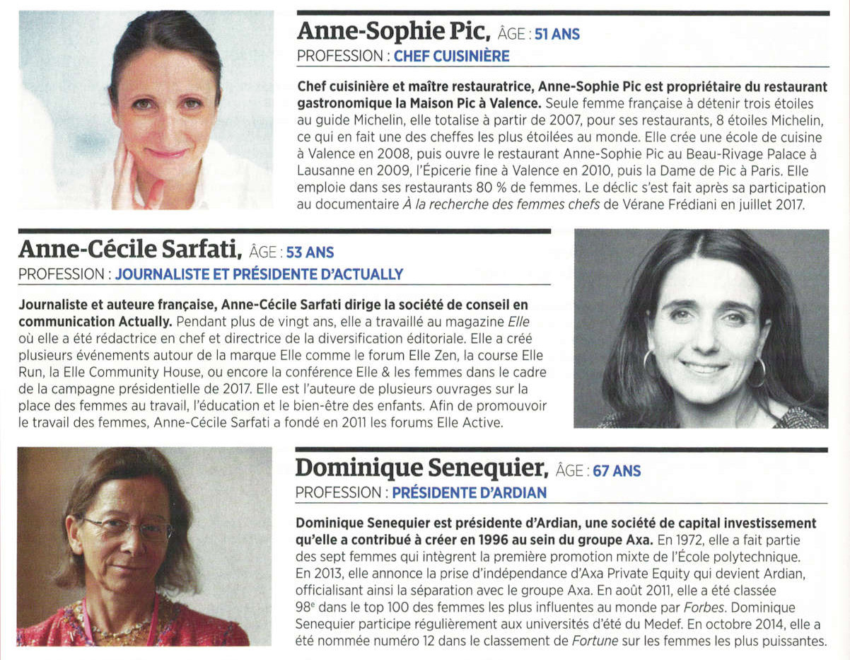 Forbes - 40 Françaises inspirante - Juil