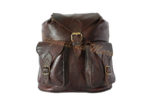 Sac à dos-Sac à dos en cuir-Cuir-sac en cuir- cuir artisanal - cuir marocain   originaldumaroc.ch