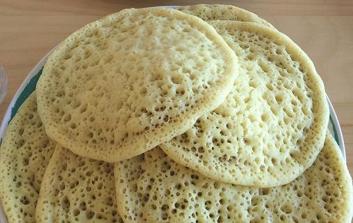 Baghrir crêpes aux mille trous marocaine