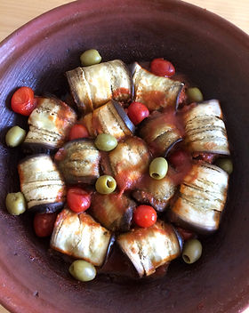 Tajine de viande hachée aux aubergines -