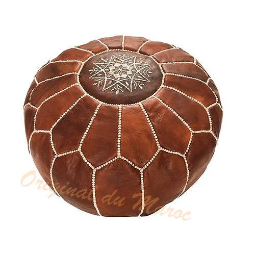 Pouf-pouf en cuir-Cuir-pouf marocain-artisanat marocain- pouf cuir suisse | originaldumaroc.ch