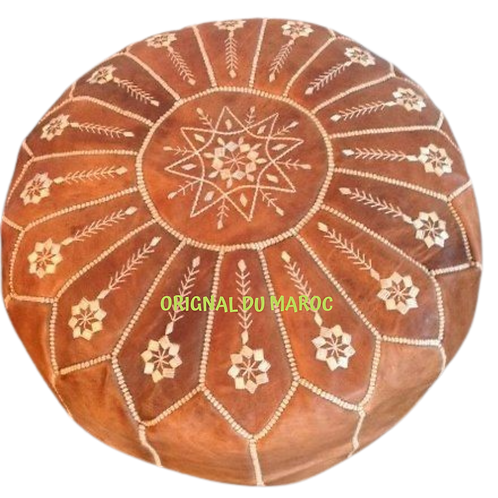 Original du Maroc-produits marocains en suisse- artisanat -pouf en cuir véritable-www.originaldumaroc.ch