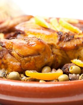 Poulet grillé aux olives et au citron co