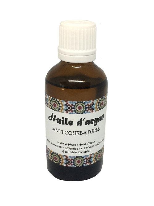 huile d'argan - huiles essentielles - anti-courbatures - gaulthérie - soins musculaires naturels | originaldumaroc.ch