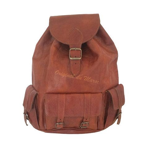 Sac à dos-Sac à dos en cuir-Cuir-sac en cuir- cuir artisanal - cuir marocain | originaldumaroc.ch