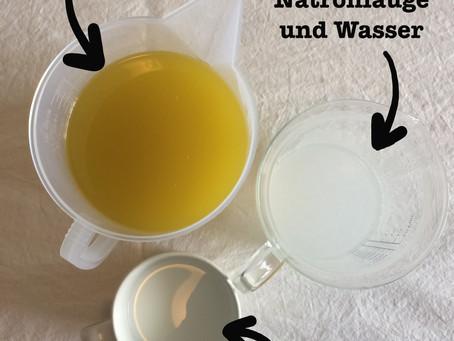 Die Herstellung von Seifen in Bilderfassung