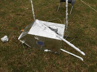 Aliens land on the playground?