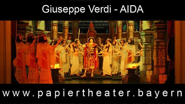 Giuseppe Verdis Aida in unserer Papiertheater-Inszenierung.