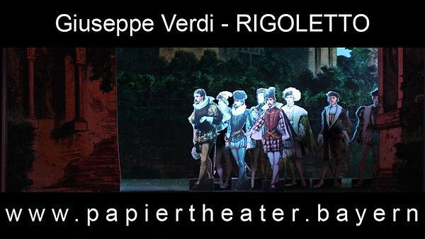 Giuseppe Verdis Rigoletto in unserer Papiertheater-Inszenierung.