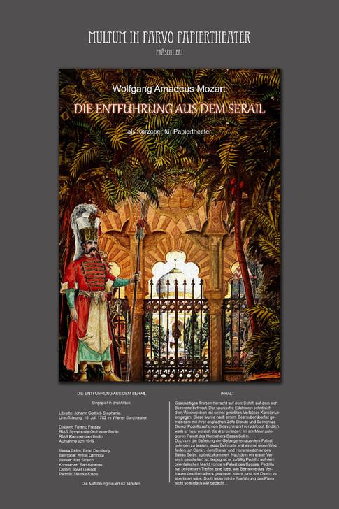 Plakat zu Entführung aus dem Serail