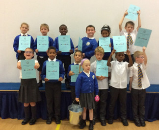 Certificate assembly this week - Well done children!